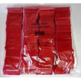 Konfeti papir, ognjevarni rdeči