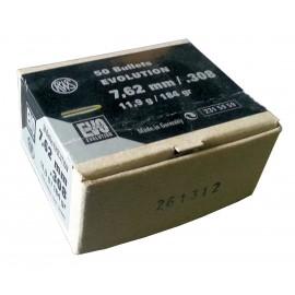 rws krogla 7,62mm .308 EVO DIA 11,9g, (50)