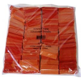 Konfeti papir, ognjevarni oranžni