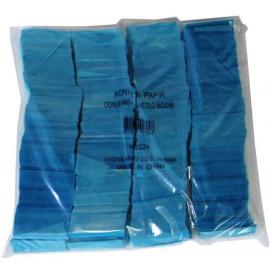 Konfeti papir, ognjevarni svetlo modri