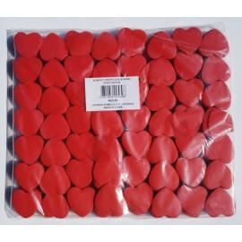 konfeti papir ognjevarni rdeč srček