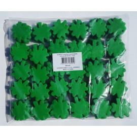konfeti papir ognjevarni zelen 4p deteljica