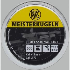 rws Meisterkugeln 4,5mm, 4,49mm, 0,53g (500)
