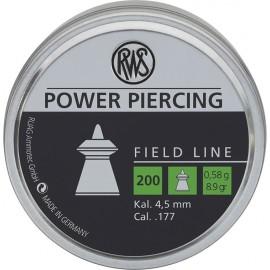 FIELD-L POW PIERC 4,5 0,58G 200PC BLI